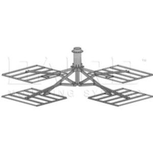 "Antennas PXL-2 HD (4 Trays) 10.75"" O.D. (Collar) x 3' Mast w/ PadNon-Penetrating Roof Mounts"