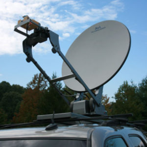 Vehicle Mount Antennas 1.2m Low-Stow Vehicle-Mount / DriveAway Mobile VSATMobile VSAT