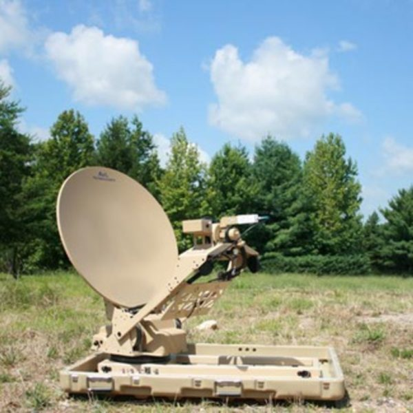 Model 85cm 880FA Premium Tri-Band Mobile VSAT FlyAway Antenna