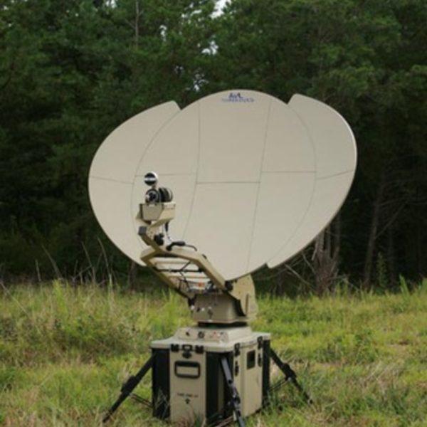 Model 1.0m 1030FA SNG/Mil Tri-Band Motorized FlyAway Antenna