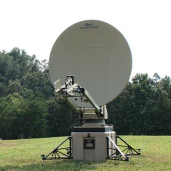 Model 1.2m 1050FA SNG/Mil Tri-Band Motorized FlyAway Antenna