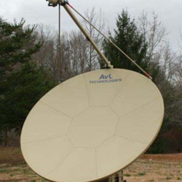 Model 2.4m 2020FA FlyAway SNG/Mil Quad-Band Motorized FlyAway Antenna