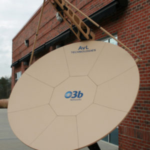 SNG Antennas AvL / O3b Model 2470 2.4m Motorized SNG AntennaLEO / MEO Tracking