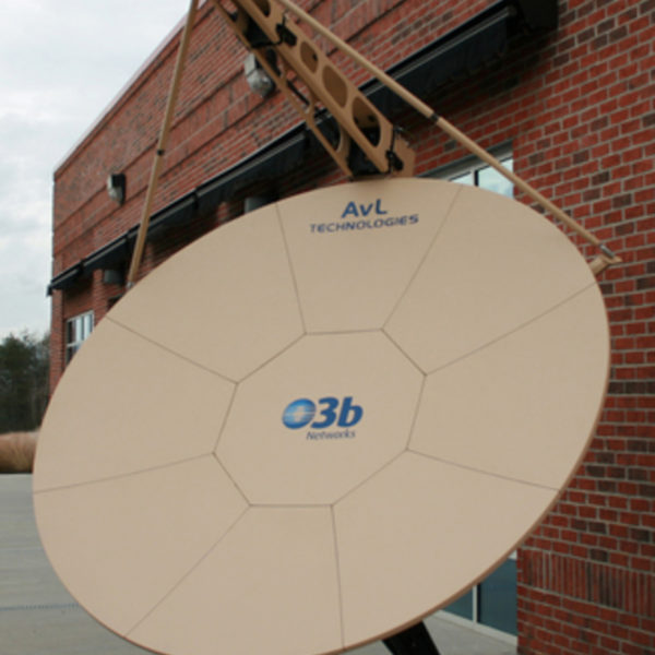 AvL / O3b Model 2470 2.4m Motorized FlyAway Antenna