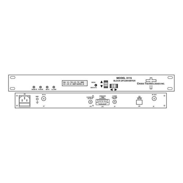 Multi-Band Block Upconverter converts L-Band-1 of 4 RF bands