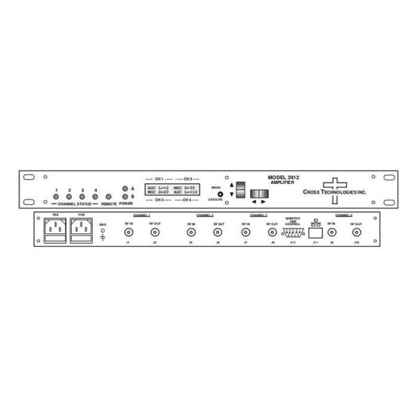 Four Channels provides AGC/MGC for 50-200MHz IF Signal