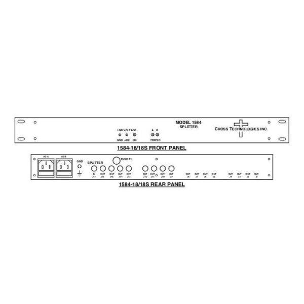 L-Band Splitter 8-Way LNB Power Redundant AC