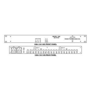 Splitters L-Band Splitter 16-Way LNB Power Redundant AC