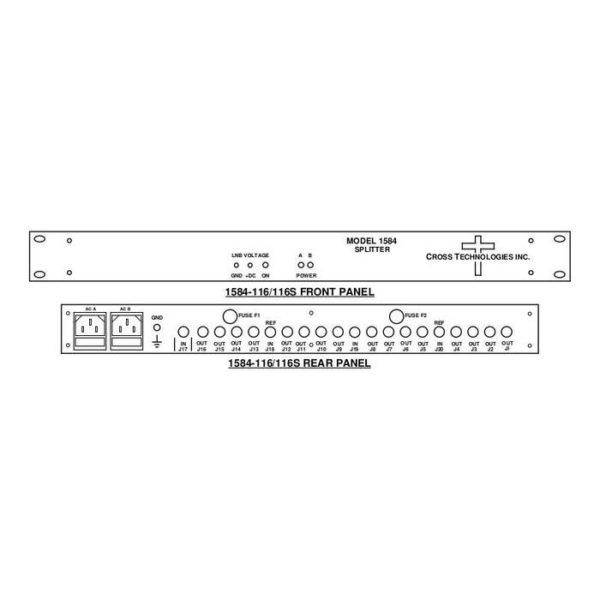 L-Band Splitter 16-Way LNB Power Redundant AC
