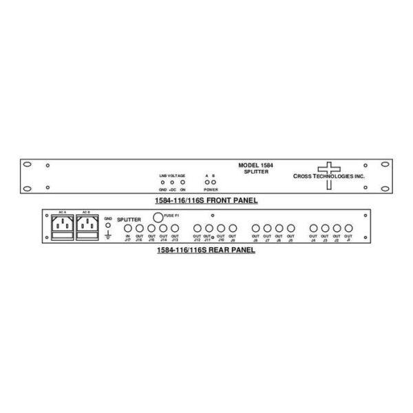 L-Band Splitter 16-Way NO LNB Power Single AC