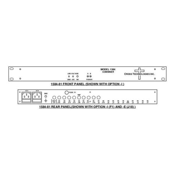 L-Band Combiner 8-Way Redundant AC