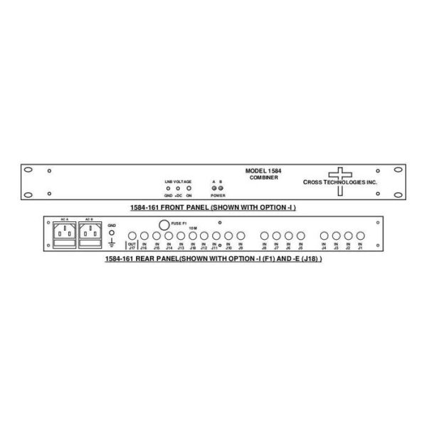 L-Band Combiner 16-Way Redundant AC