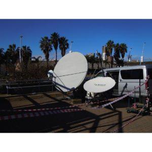 Flyaway Antennas TP150 1.5m 8 Segment Carbon Fibre FlyawayVSAT|Rx/Tx|DSNG Broadcast