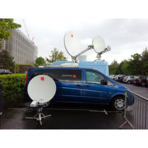 Flyaway Antennas TP100 7 Segment Carbon Fibre FlyawayVSAT|Rx/Tx|DSNG Broadcast